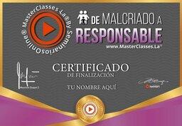 certificado de malcriado a responsable